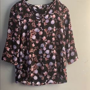 NWOT Hippie Rose Floral Strappy Blouse